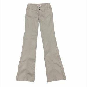 GUESS flare leg stretch jean khaki color no pocket